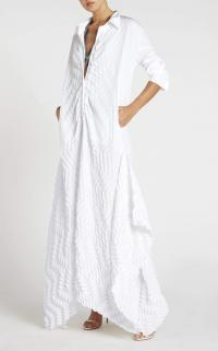 ROLAND MOURET PENHALE DRESS in WHITE ~ contemporary maxi
