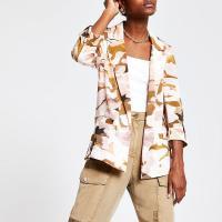 RIVER ISLAND Pink camo blazer / camouflage jacket