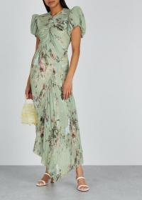 PREEN BY THORNTON BREGAZZI Tessa floral-print georgette midi dress ~ summer event dresses