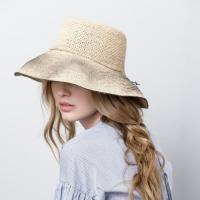 Raffia Straw Hat by Justine Hats | Wolf & Badger | Quality raffia straw hat , with black textured brim