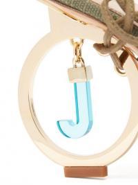 JACQUEMUS Riviera logo-heel linen pumps in khaki ~ detailed geometric heels