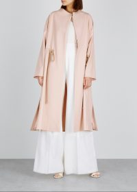 ROKSANDA Beata pink drawstring coat ~ lightweight fluid coats