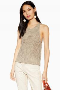 Topshop Sage Crochet Tank Top | chic summer knits