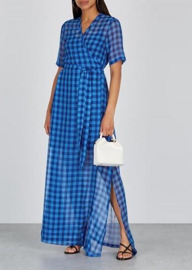 SAMSØE & SAMSØE Mante blue gingham chiffon maxi dress ~ effortless summer style