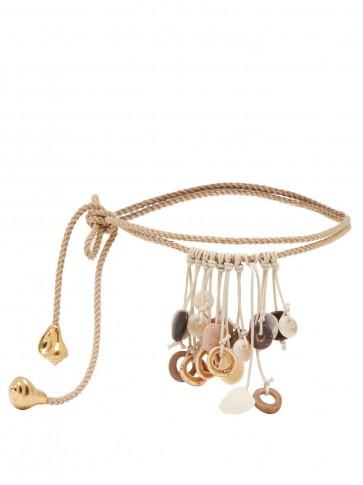ALTUZARRA Serpenti shell-embellished rope wrap belt / sea inspired accessories / belts