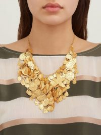 PIPPA SMALL Sharifa 18kt gold-vermeil necklace ~ hammered jewellery