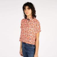 Short-Sleeved Chilli Shirt by McIndoe Design | Wolf & Badger | hand-drawn chillies | luxe bamboo silk fabric