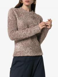 Sies Marjan Tinsel Knitted Jumper / shimmering crew neck