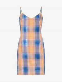 Simon Miller Tawas Check Mini Dress / skinny strap dresses
