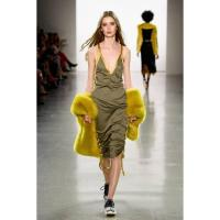 Street Slip Dress With Drawstring by VHNY | Wolf & Badger | green dress is casual and sporty