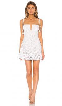 Sun Becomes Her Margarita Dress in Blanco | frill hem sundress