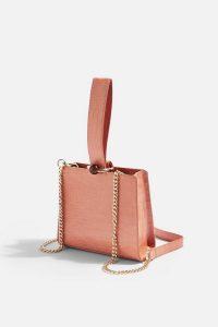 Topshop SWISH Apricot Ball Handle Cross Body Bag in Apricot | wristlet bags