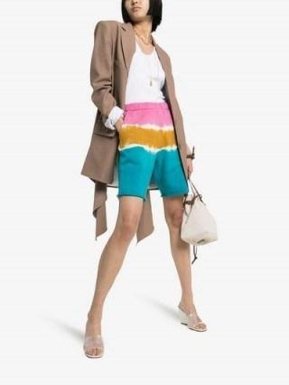 The Elder Statesman Dip Dye Cotton Sweat Shorts / multicoloured summer fashion - flipped