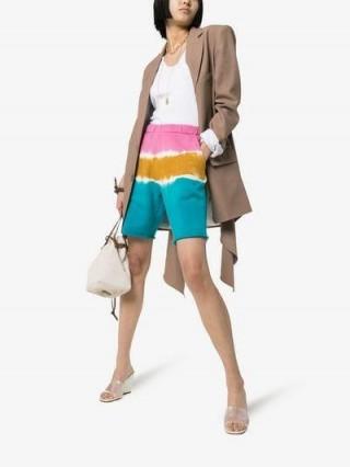The Elder Statesman Dip Dye Cotton Sweat Shorts / multicoloured summer fashion