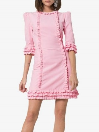 The Vampire's Wife Kate Corduroy Mini Dress in pink | prairie update