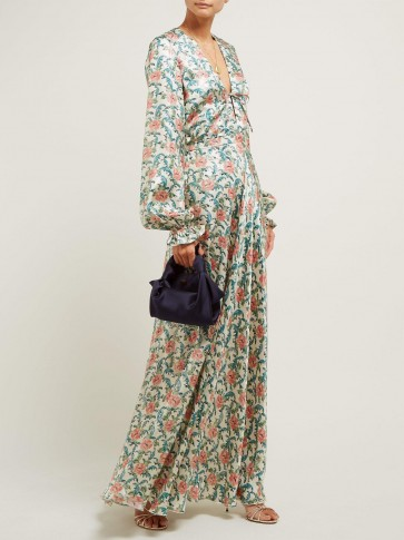 RAQUEL DINIZ Valentina floral-print silk maxi dress / romantic florals