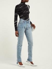 BALENCIAGA V-waist straight-leg jeans | Matches Fashion