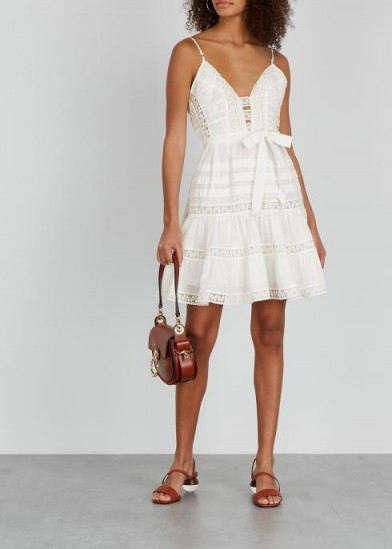 ZIMMERMANN Honour white fil coupé mini dress ~ effortlessly feminine summer dresses