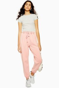 TOPSHOP Acid Wash Joggers in Pink – cuffed sports bottoms