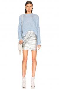 A.L.C. Jupiter Skirt Silver / metallic ruched mini