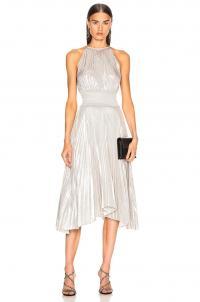 A.L.C. Weston Dress Silver / metallic occasion dresses / luxe fashion