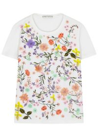 ALICE + OLIVIA Rylyn floral-embroidered cotton T-shirt