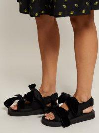 CECILIE BAHNSEN April velvet-bow sandals in black