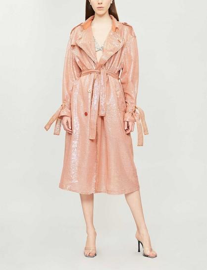 ASHISH Sequin-embellished trench coat mirage