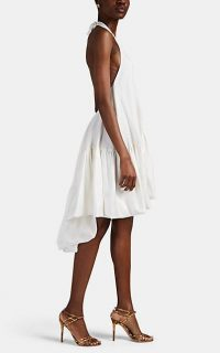 AZEEZA Winston Silk Halter Dress ~ luxe white halterneck dresses