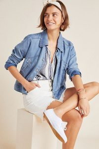 Anthropologie Charlene Denim Jacket