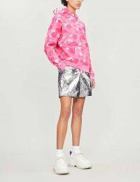 BAPE Camouflage ape cotton hoody / pink camo hoodies