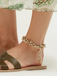 ANCIENT GREEK SANDALS Bell-charm anklet ~ statement summer anklets