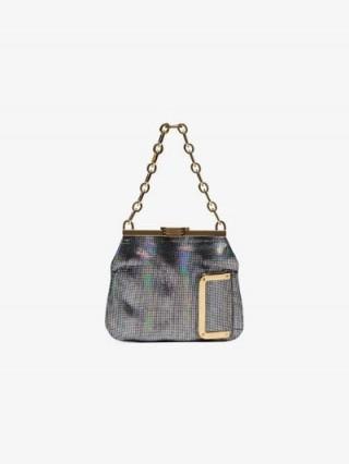 Bienen Davis Metallic 5AM Chain Mesh Clutch Bag / luxe iridescent handbag