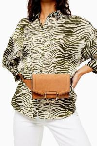 Topshop BINX Tan Bumbag | chic light-brown fanny pack