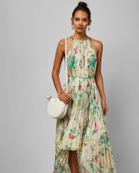 TED BAKER MALEO Birds of Paradise pleated midi dress