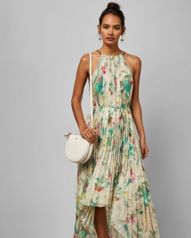 TED BAKER MALEO Birds of Paradise pleated midi dress