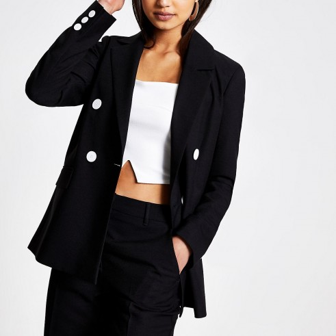 RIVER ISLAND Black boyfriend blazer – smart & stylish jackets