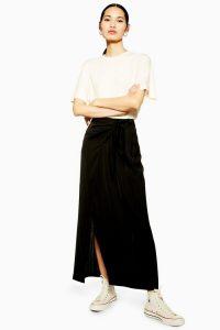 TOPSHOP Black Wrap Skirt By Boutique