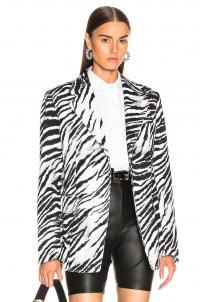 BROGNANO Zebra Blazer Black & White / monochrome animal stripes