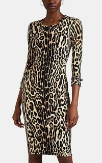 BURBERRY Leopard-Print Jersey Dress ~ animal printed clothing