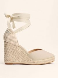 Reformation Camille Espadrille in Natural | wedged ankle wrap espadrilles