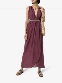 Caravana Nefeli Maxi-Dress in Purple – cross back summer dresses – holiday style