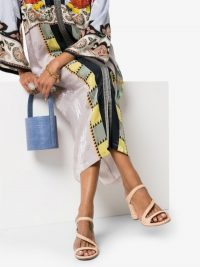 Carrie Forbes Neutral Salah 30 Raffia And Leather Sandals – luxe strappy summer shoes