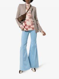 Chloé Pocket Detail Wide Flared Jeans   vintage look denim   retro outfit ideas