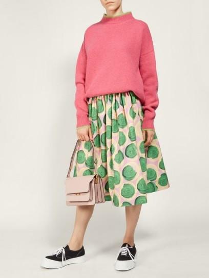 MARNI Clematis-print poplin skirt ~ summer skirts