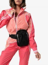 Converse X Feng Chen Wang Black Buckle Strap Cross Body Bag | sporty designer fanny pack