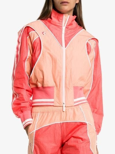 Converse X Feng Chen Wang Track Jacket in Pink – designer sports jackets - flipped
