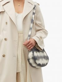 WANDLER Corsa mini tie-dye grey leather tote bag