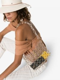 Cult Gaia Jasmin Disc Shoulder Bag | see-through acrylic bags
