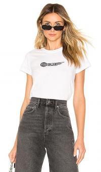 DANIELLE GUIZIO Babydoll Global Tee White / branded T-shirt